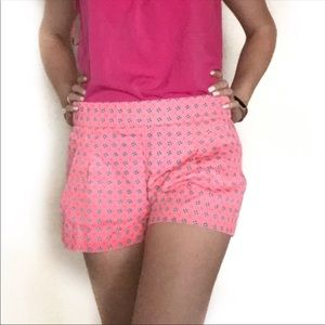 J crew pink floral shorts